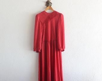 60s Vintage Lady Carol Red Secretary Dress/ 1960s Vintage Red Dress/ 60s Red Dress/ Vintage Lady Carol Of New York