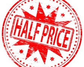 Half Price! Wine Bottle Jackets, were 15, now 7.50.