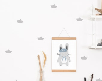 Wall decals / wall stickers 28 paper boats