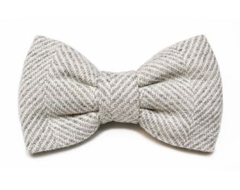 Papillon grey Twill, wool, handmade, classic, hand-stitched, made in Italy, accessories, wedding, special occasion
