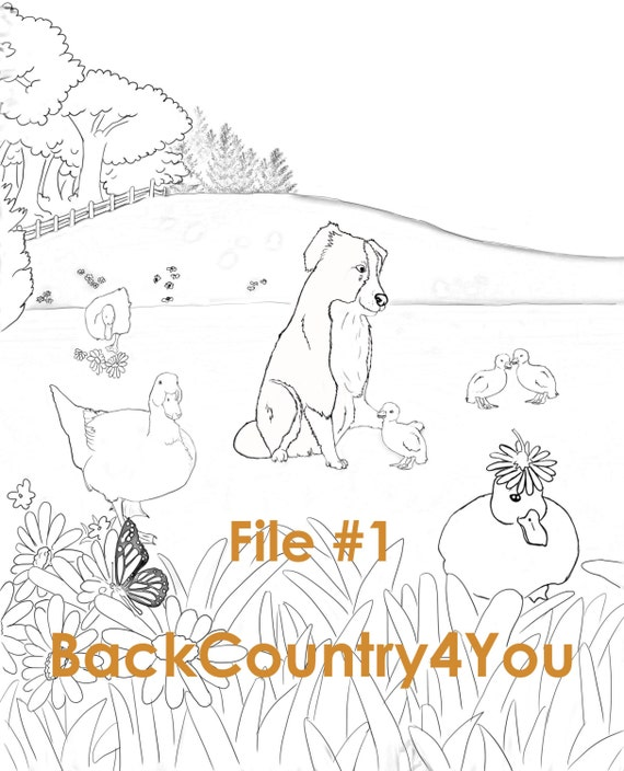 farm scene coloring pages - photo#32