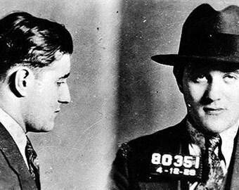 "Mugshot of American mobster Benjamin ""Bugsy"" Siegel in the 1920s"