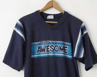 MEDIUM Vintage 1970s Totally Awesome T-Shirt