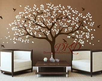 Family Tree Wall Decal, Tree Wall Decals for Nursery, Vinyl Sticker Wall  art, Wall Decor-DK271