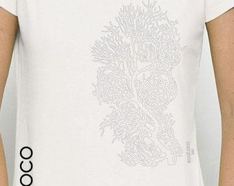 CORAL organic cotton  ecoLoco tee shirt