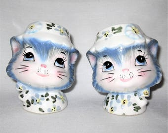 Vintage Lefton Miss Priss Kitty Cat Salt and Pepper Shakers Made in Japan 1511