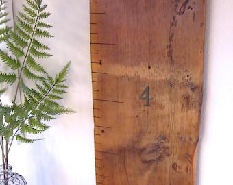 Hand Painted Reclaimed Barnwood Growth Ruler