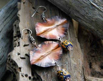 SALE! Foldformed Copper Earrings