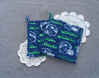Seattle Seahawks Hot Pads-- set of 2