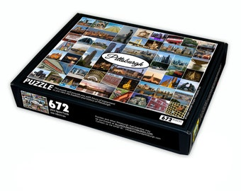 Pittsburgh Collage Puzzle - 672 pieces - Pittsburgh Jigsaw Puzzle - Pittsburgh Gift