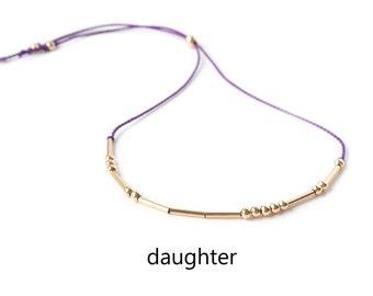 Daughter Bracelet, Morse Code Bracelet, Daughter Morse Code Bracelet, Morse Code Jewelry, Daughter Jewelry, Morse Code, Code Morse, Bracelet