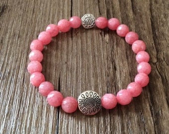Beautiful Pink Bracelet - Buddhist Beads - Morganite Bracelet