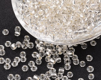 6/0 Clear Silver Lined Seed Beads