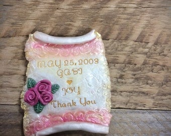 Custom  Magnet Wedding Favors, Personalized Magnet Wedding Favors, Polymer Clay Wedding Favors, Magnet Wedding Favors, wedding Favours