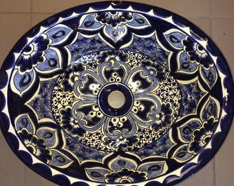 Gorgeous Hand-painted Talavera Sink - Free Shipping!