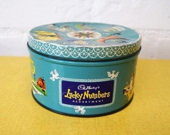 Vintage Cadburys Lucky Numbers tin