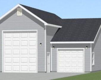 Items similar to 16x16 house w loft pdf floor plans for 32x40 garage plans