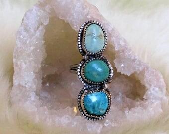 Triple Ocean Turquoise Ring