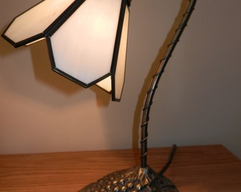 Vintage Tiffany Style Brass Desk Lamp