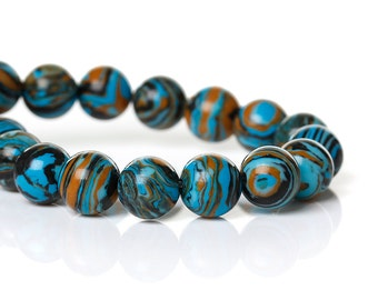 City Nights Fordite Beads-12mm