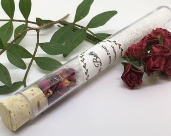 Wedding Favours - Spa Bath wedding Favours x 10 - Bath Salts -  Bridesmaid gift - Wedding Favours - Bridal Shower