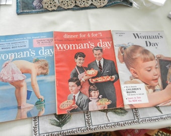 Woman's Day magazines - retro (3) August 1955, January 1956, September 1958