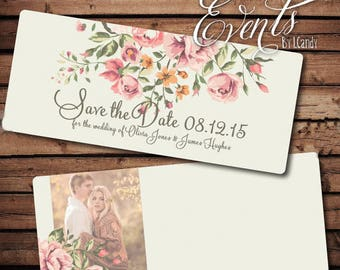 Wedding Save-the-Date Sample - vintage floral