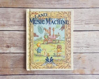 Display Prop Book Children's Room Decor Vintage Book Prop Setting The Land Of The Music Machine 80s Religion Kids Book Adventure Kids Book