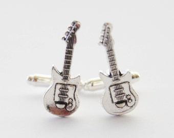 Guitar Cufflinks, Electric Guitar Cufflinks, Guitar Gifts, Guitarist Gifts, Electric Guitar, Music Cufflinks, Music Gift, Musician Cufflinks
