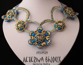 Calispera necklace, beaded necklace, beadwork necklace
