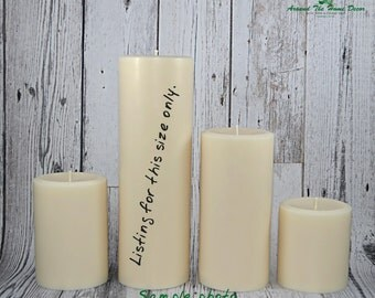 All Natural Vegan 9.5 Inch Soy Pillar Candle, Scented or Unscented. Extra Tall Pillar