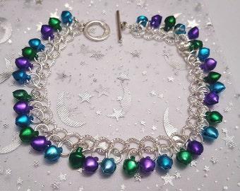Festival ankle bracelet with jingly bells,  festival anklet, jingle bell anklet, samba dancing jewellery, belly dancing jewellery