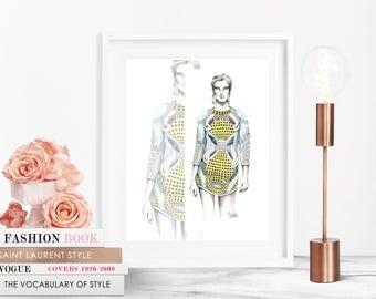 Balmain / Fashion Illustration / Fashion Print