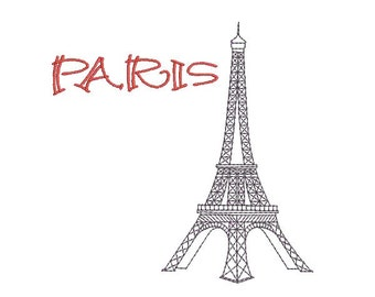 instant download embroidery  eiffel tower Paris