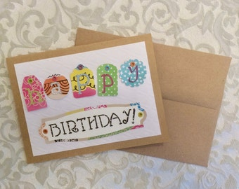 Birthday card with eyelet tags