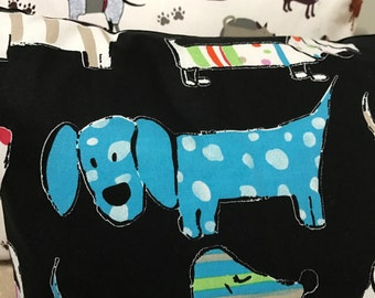 Black Daschund  or White Dog Cushions with Cartoon Prints