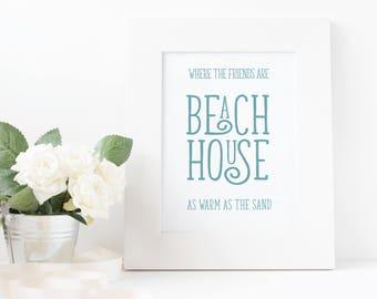 Beach house •Original Artwork