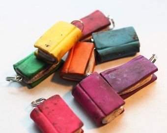 Miniature Colored Polymer Clay Book Charms