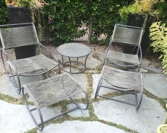 Kipp Stewart Mid Century Patio Lounge Chairs