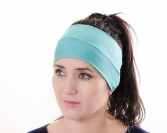 Yoga headband, woman headband ,ear warmer,aqua,turquoise