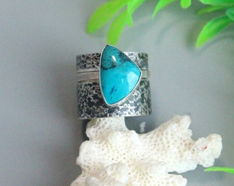Turquoise rings set,  turquoise rings, silver rings, band rings, sterling rings, bands ring, turquoise silver, turquoise sterling,wide rings
