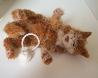 NOW SOLD...needle felted  kitten