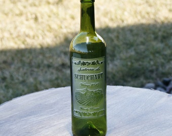 Engraved Wine Bottles - Color Green - Personalized Wine Bottle Gifts for Wedding - Bottle01-gree
