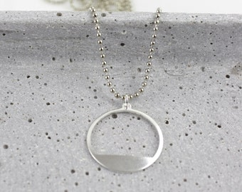 Filled Cirle - silver-plated necklace A63