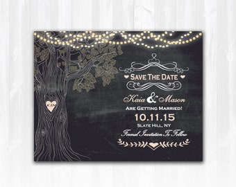 Tree Save The Date Magnet Tree Save The Date Card Rustic Save The Date Save The Date Country Save The Date Printable DIY Digital or Print+