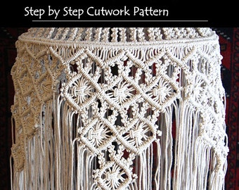 Macramé Lamp ~ Cut Work Pattern
