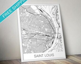 Saint Louis Map Print