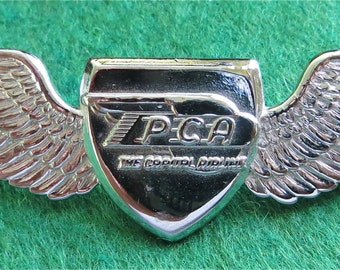 Original 1950's Pennsylvania Central Airlines Capital Airlines PCA Hat Pin Badge - Free Shipping