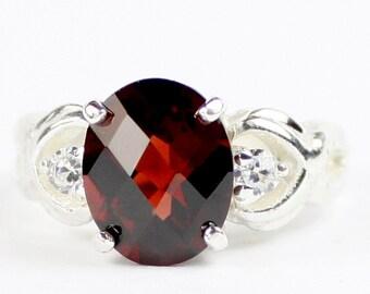 Mozambique Garnet, 925 Sterling Silver Ladies Ring, SR243