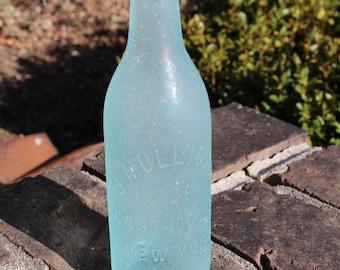 Sea Glass Bottle - J. Mulligan Sea Foam Blue